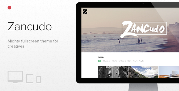 zancudo splash.  large preview Zancudo   Mighty fullscreen theme for creatives (Photography)
