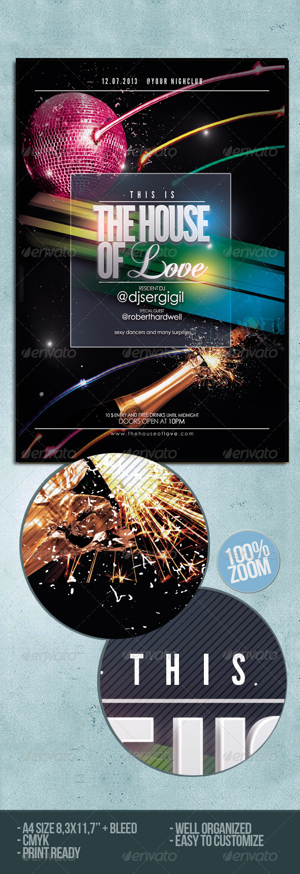 GraphicRiver Electro Club Flyer Poster 5057738