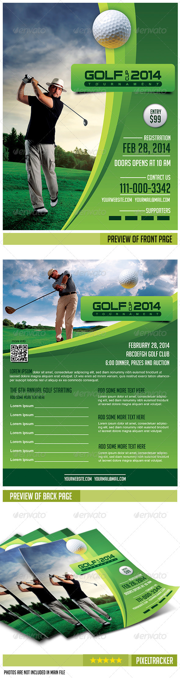 GraphicRiver Golf Flyer Template 6614654