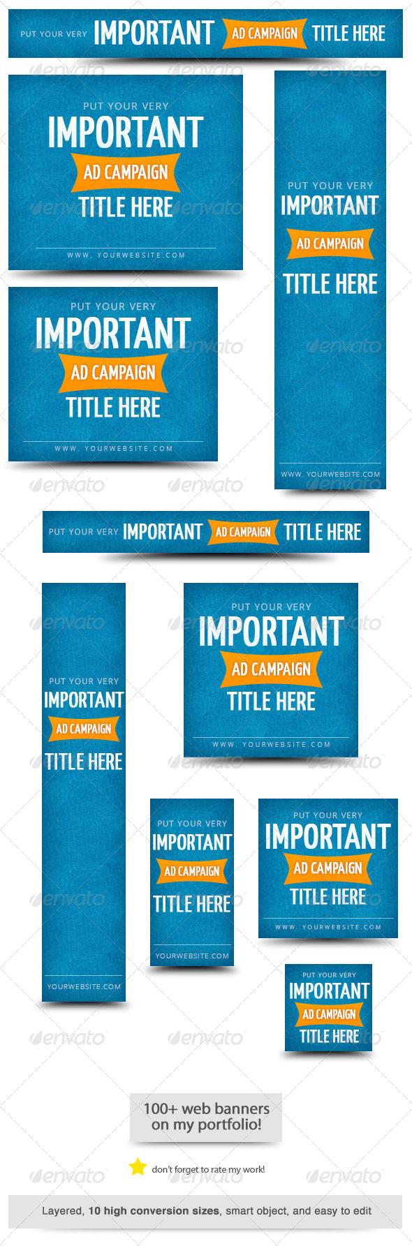 GraphicRiver Important Ad Campaign Web Banner 6614735