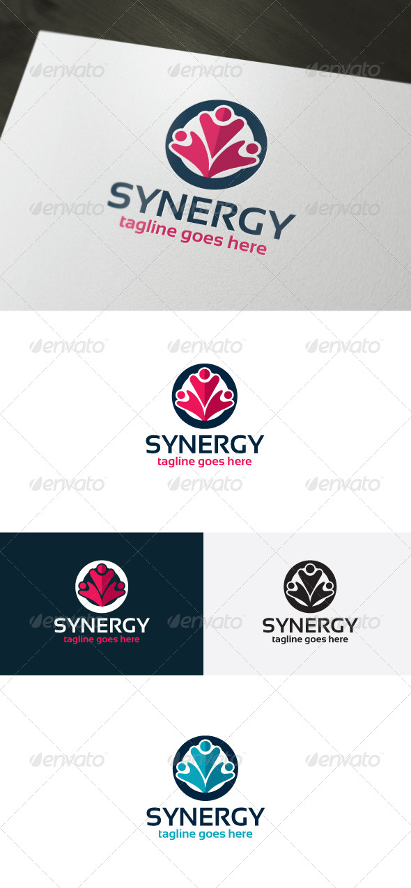 GraphicRiver Synergy Logo Template 6614738