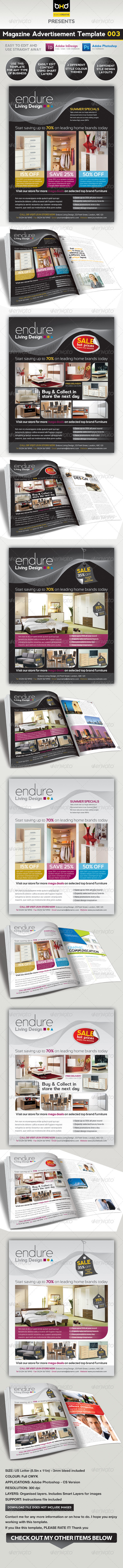 Magazine Advert Template 003 - Corporate Flyers