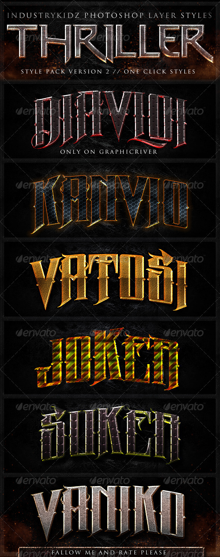 GraphicRiver Thriller Photoshop Layer Styles V2 694872