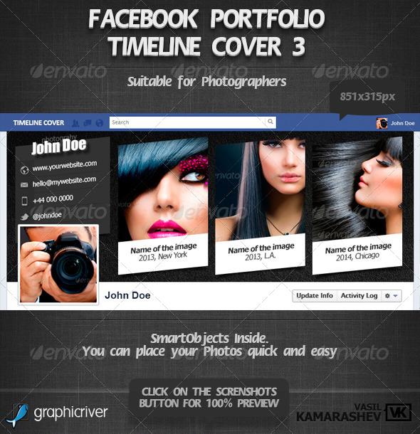 GraphicRiver Facebook Portfolio Timeline Cover 3 6610323