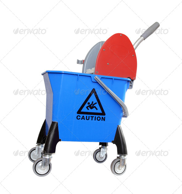 Stock Photo - PhotoDune bucket for cleaning on wheels 694901