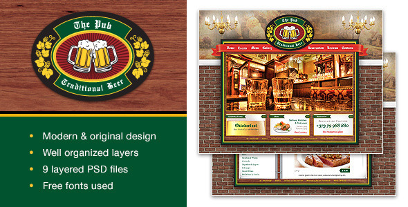 ThemeForest The Pub PSD Template 6615977