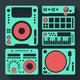 DJ Equipment Icons Set - GraphicRiver Item for Sale