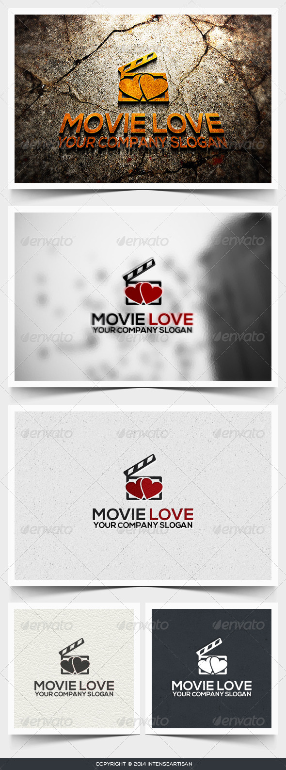 GraphicRiver Movie Love Logo Template 6617051