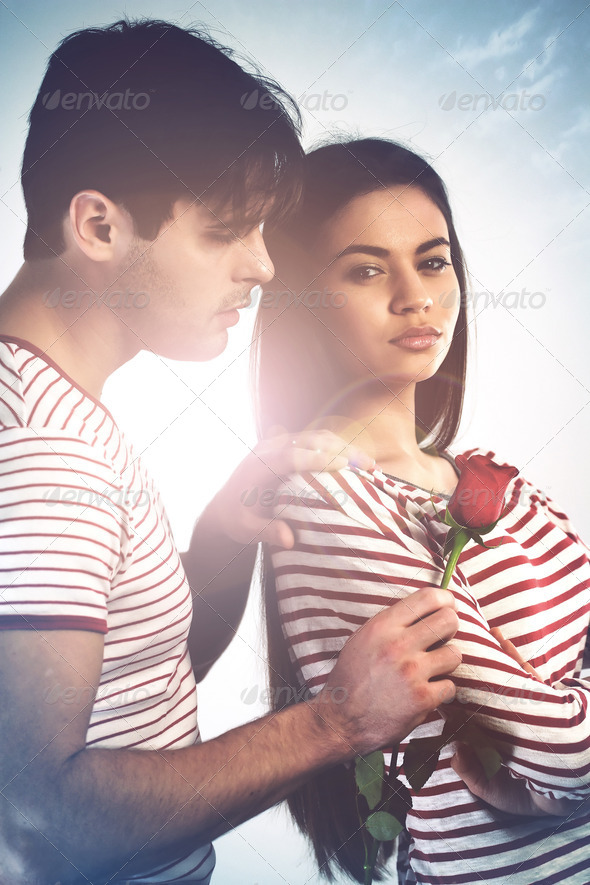 Let's kiss and make up - Stock Photo - Images
