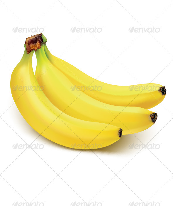 GraphicRiver Bunch of bananas isolated on white 6617332