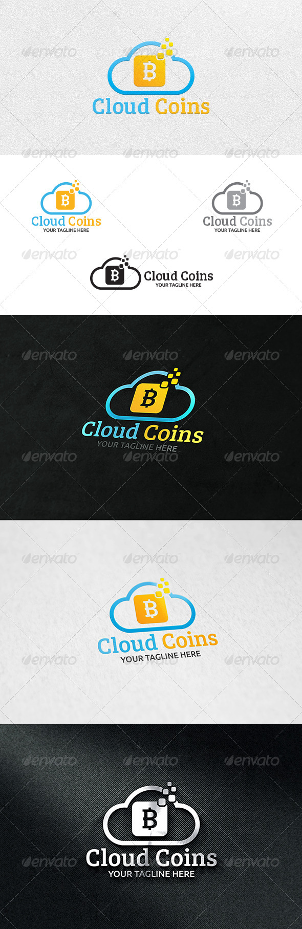 GraphicRiver Cloud Coin Logo Template 6617424