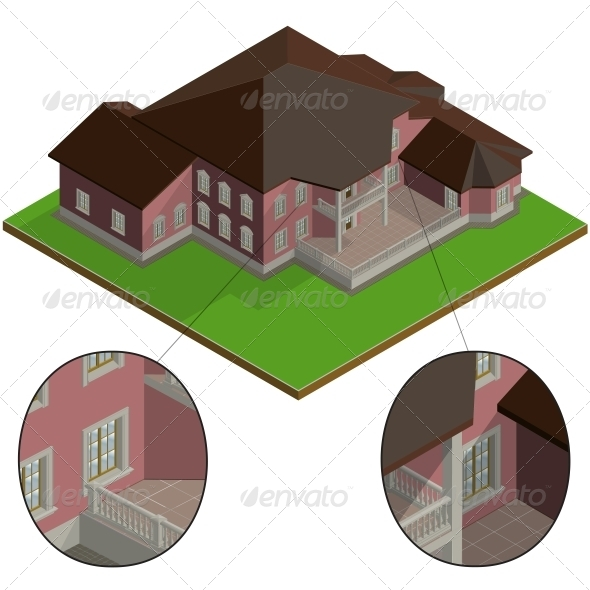 GraphicRiver Isometric Villa 6617466