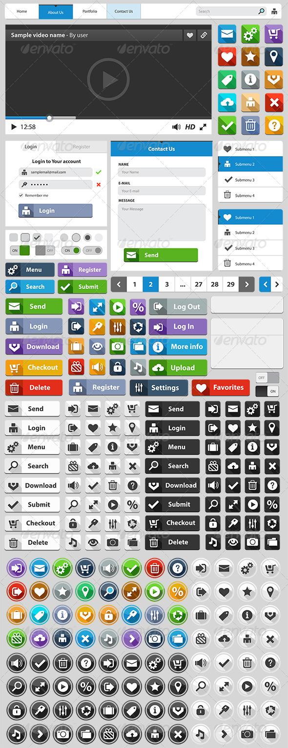 GraphicRiver Web Design Elements Set 6617681