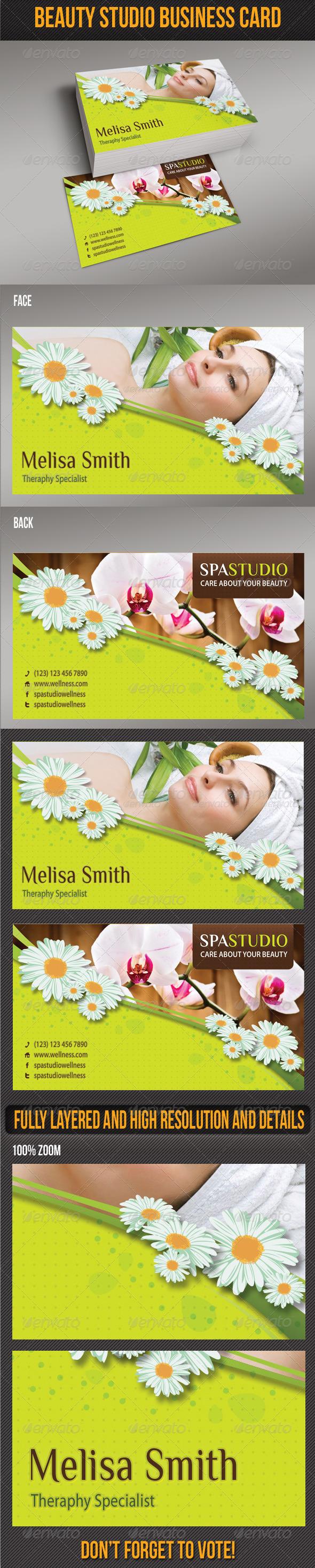 Spa Studio Business Card 03