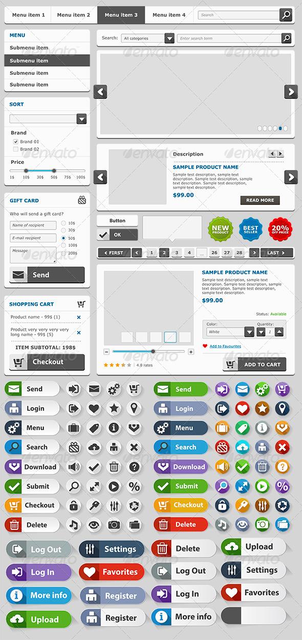 GraphicRiver Online Shop Elements Set 6617748