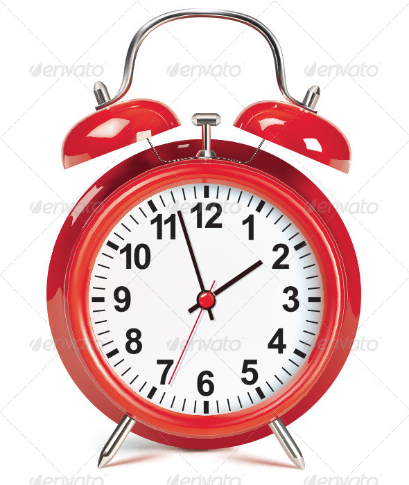 GraphicRiver Alarm Clock Isolated on White 6617754