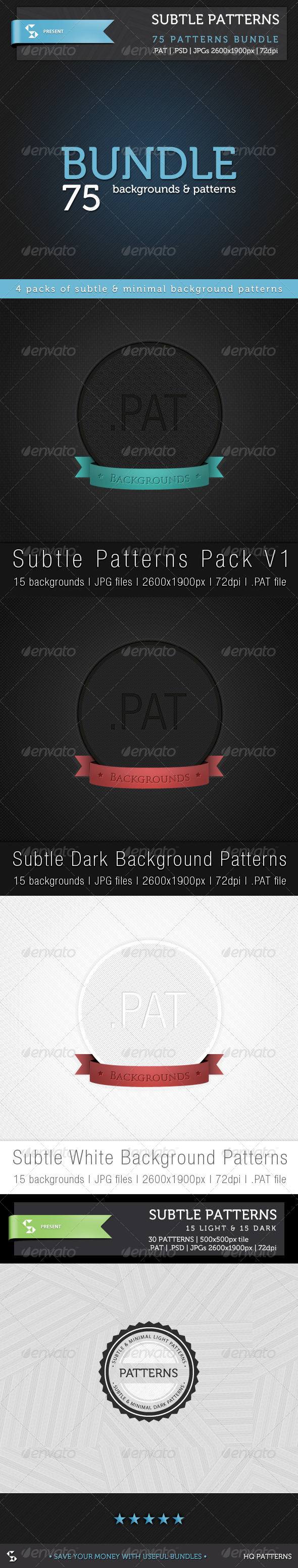 GraphicRiver Subtle Background Patterns Bundle 6617860