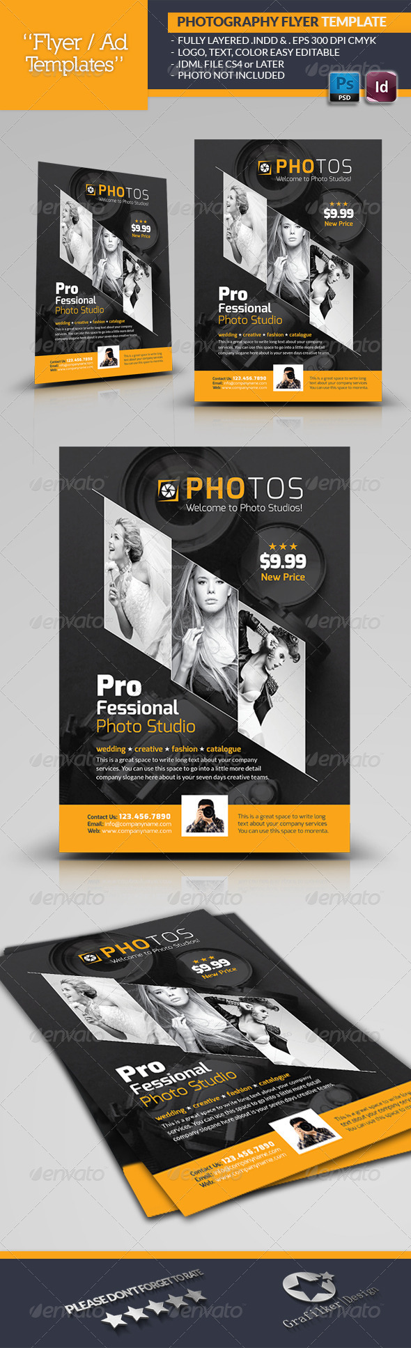GraphicRiver Photography Flyer Template 6617901