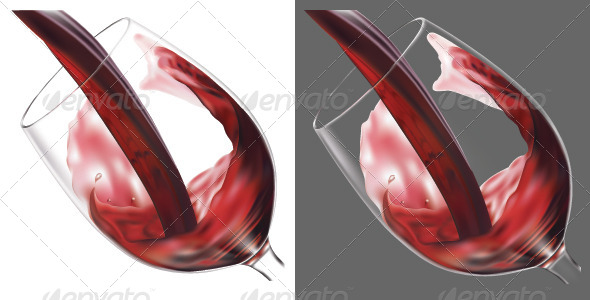 GraphicRiver Glass of Wine 6618047