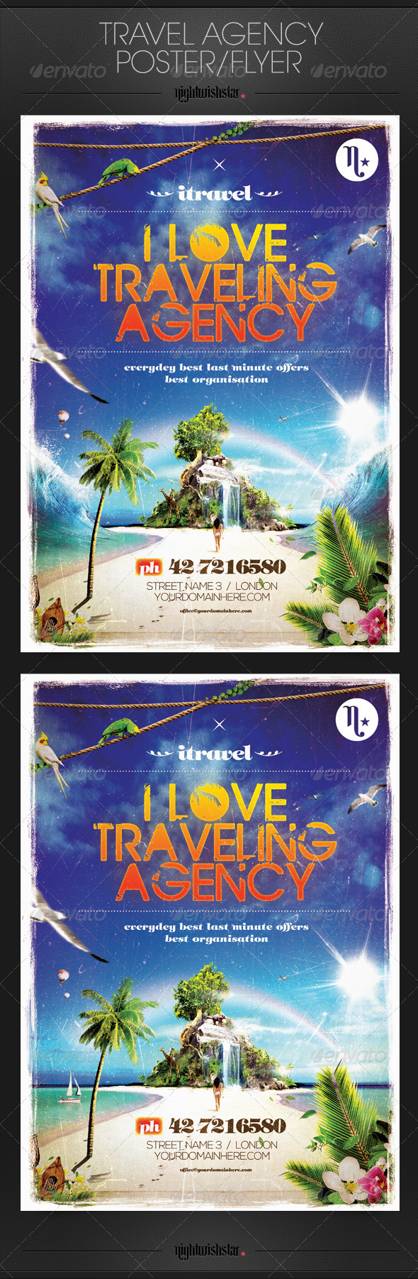 GraphicRiver Travel Agency Party Flyer Poster 6611881