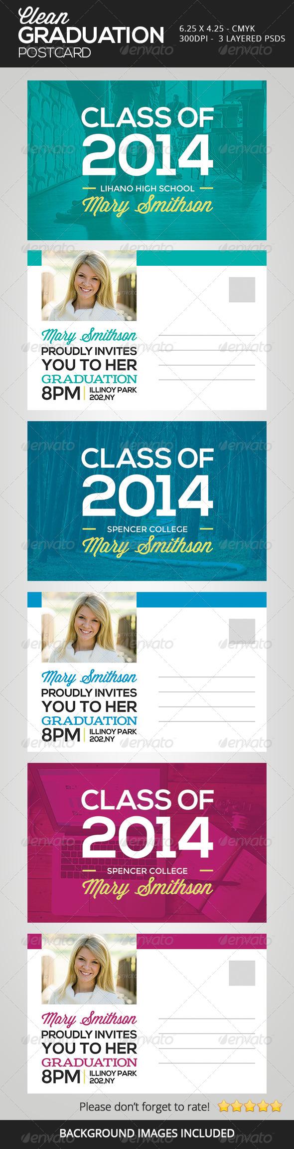 GraphicRiver Clean Graduation Postcards 6618136