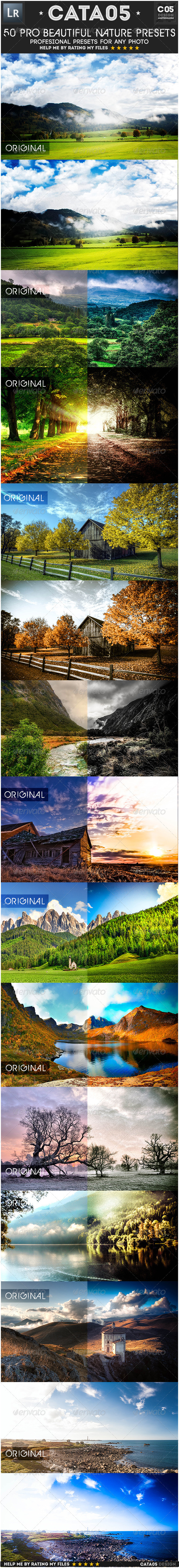 GraphicRiver 50 Pro Beautiful Nature Presets 6618149