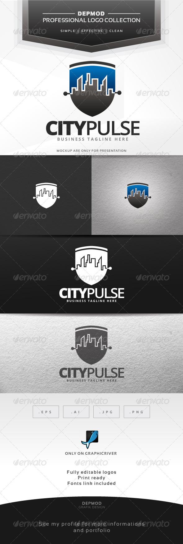 GraphicRiver City Pulse Logo 6618270