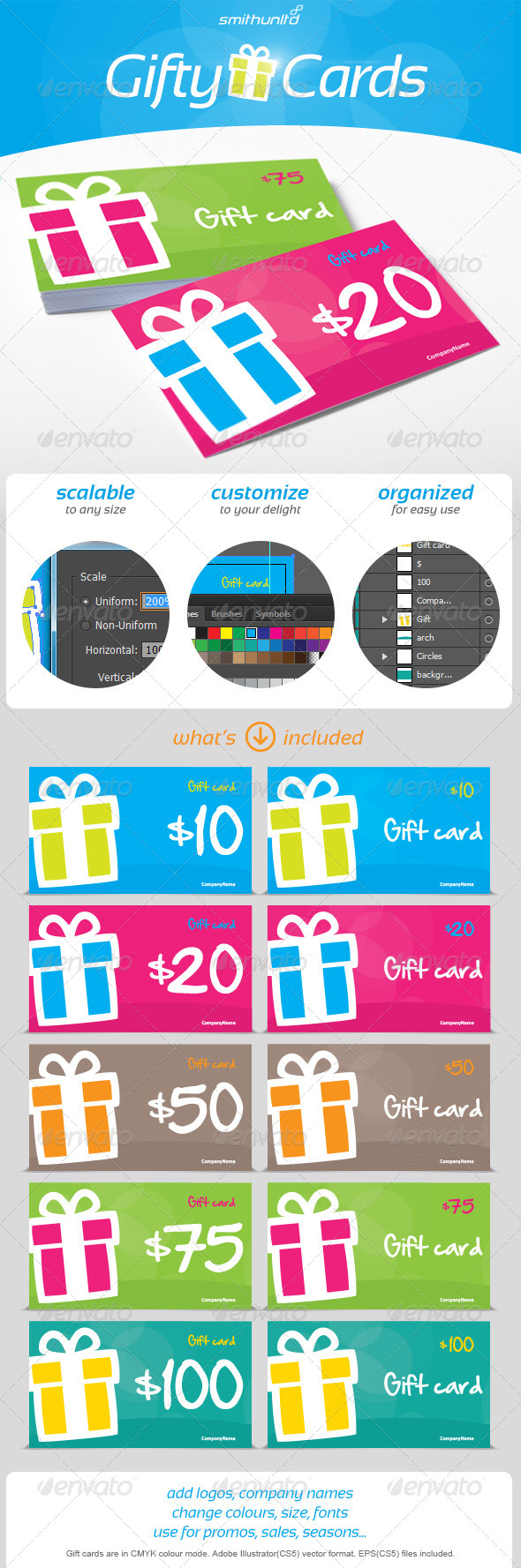 GraphicRiver Gifty Cards Gift card 6618272