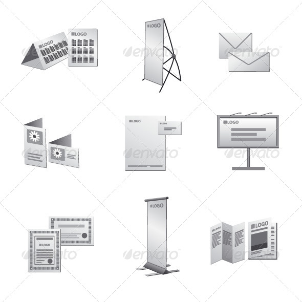 GraphicRiver Advertising Media Icon Set 6618307