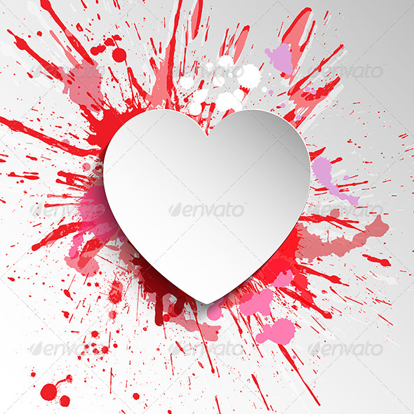 GraphicRiver Grunge Heart Background 6618316