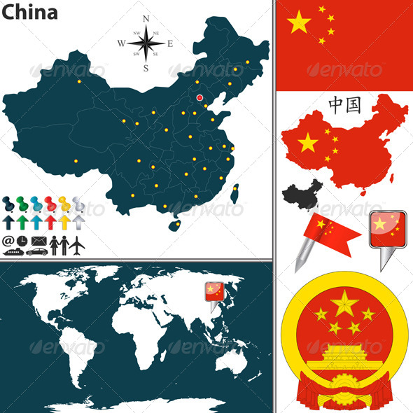GraphicRiver Map of China 6618323