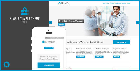 Nimble - A Responsive Business Tumblr Theme