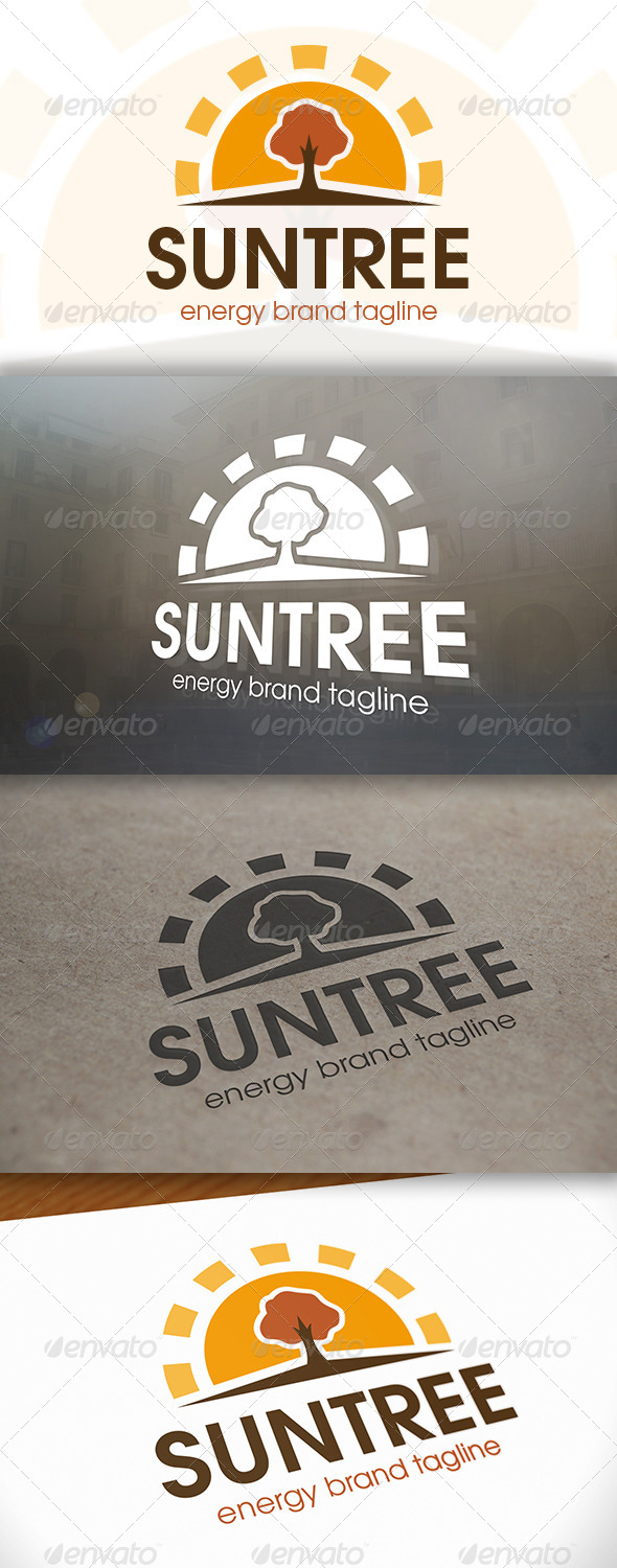 GraphicRiver Sun Tree Logo 6618878
