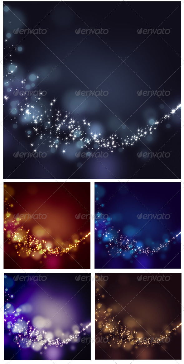 GraphicRiver Glittering Stars on Bokeh Background 6618881
