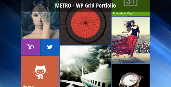 CodeCanyon Metro WordPress Grid Portfolio 6618922