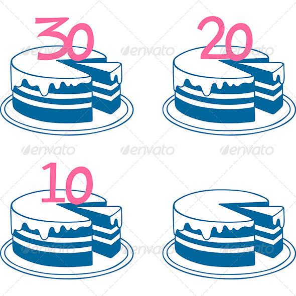 GraphicRiver Birthday Cakes 6618923