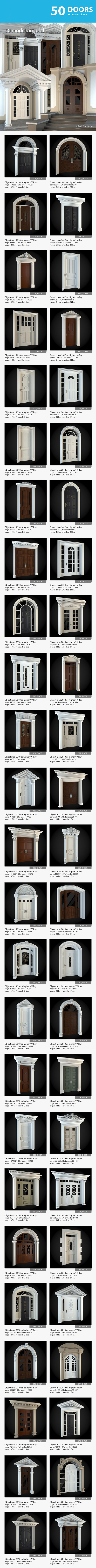 Doors Collection - 3DOcean Item for Sale
