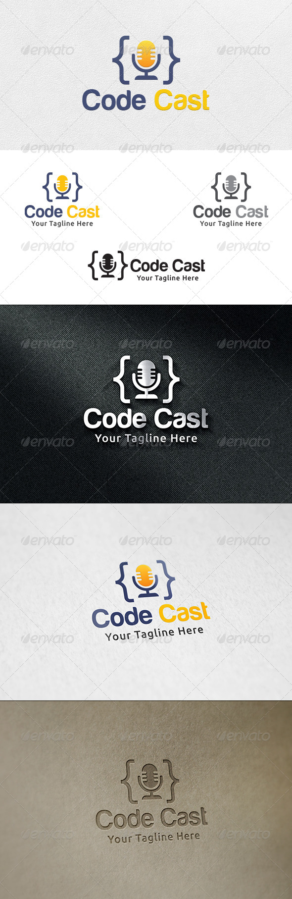 GraphicRiver Code Cast Logo Template 6619080