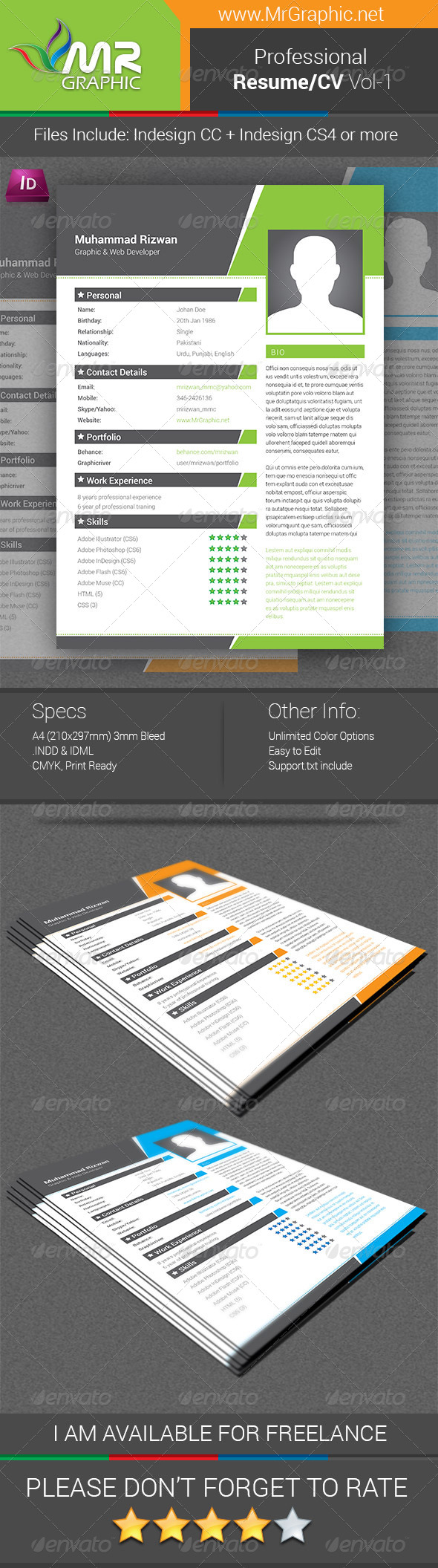 Professional Resume/CV Vol-01