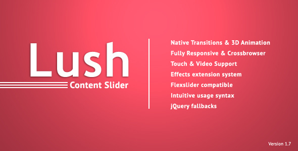 Lush - Content Slider - CodeCanyon Item for Sale