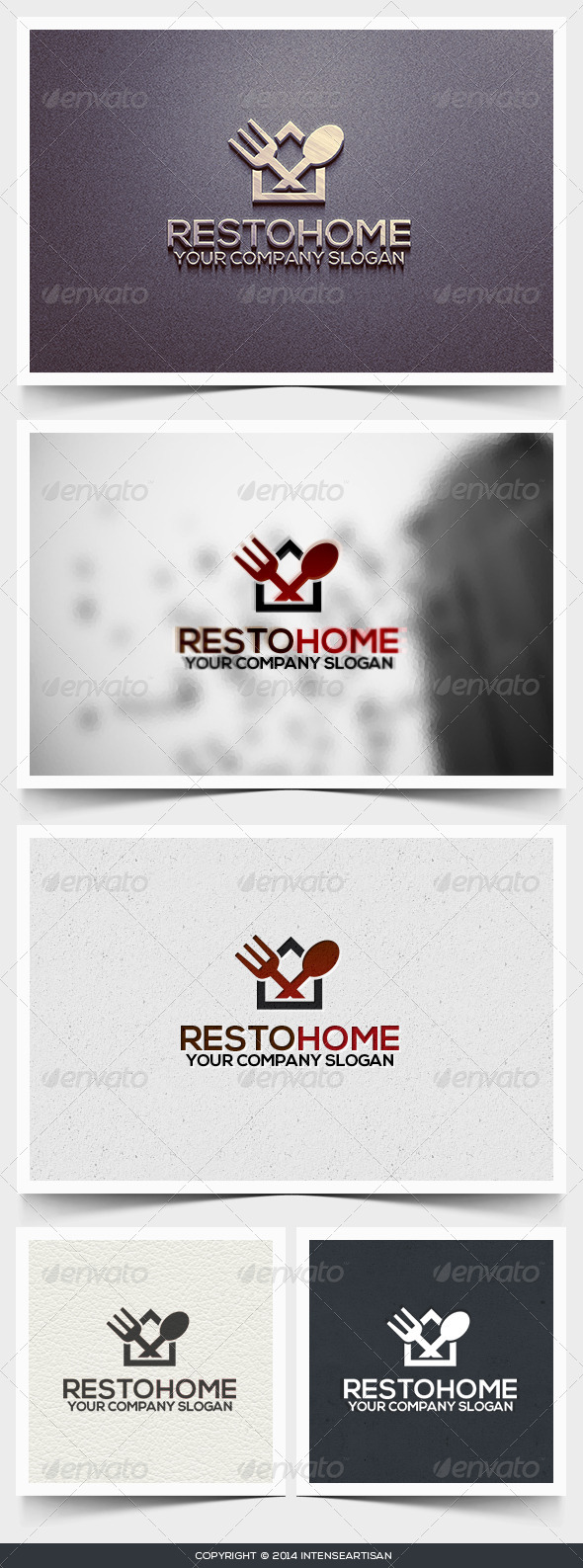 Resto Home Logo Template - Food Logo Templates