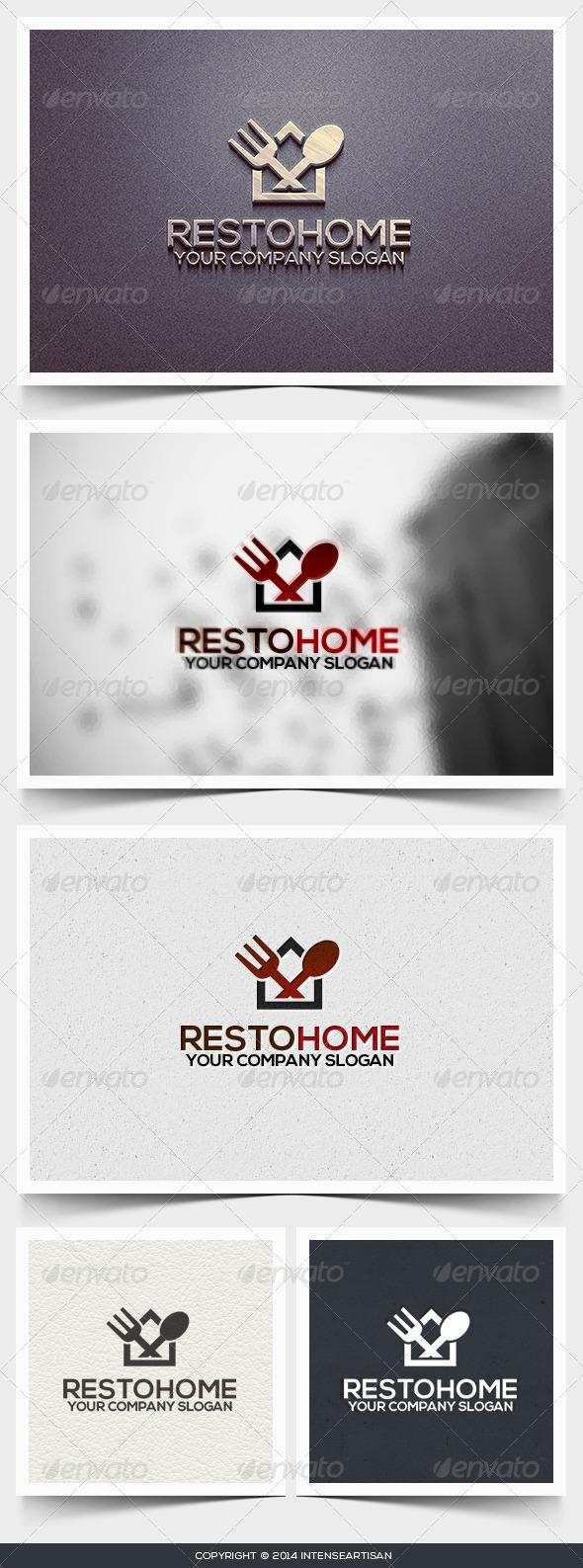 GraphicRiver Resto Home Logo Template 6619118