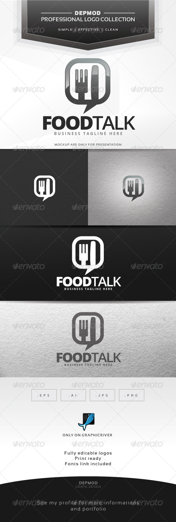 GraphicRiver Food Talk V.02 Logo 6619153