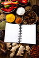 Cookbook and various spices - PhotoDune Item for Sale