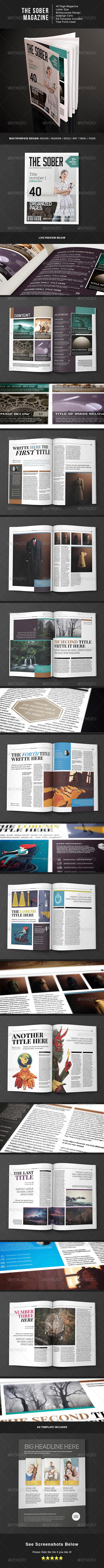 The Sober MGZ - Magazines Print Templates