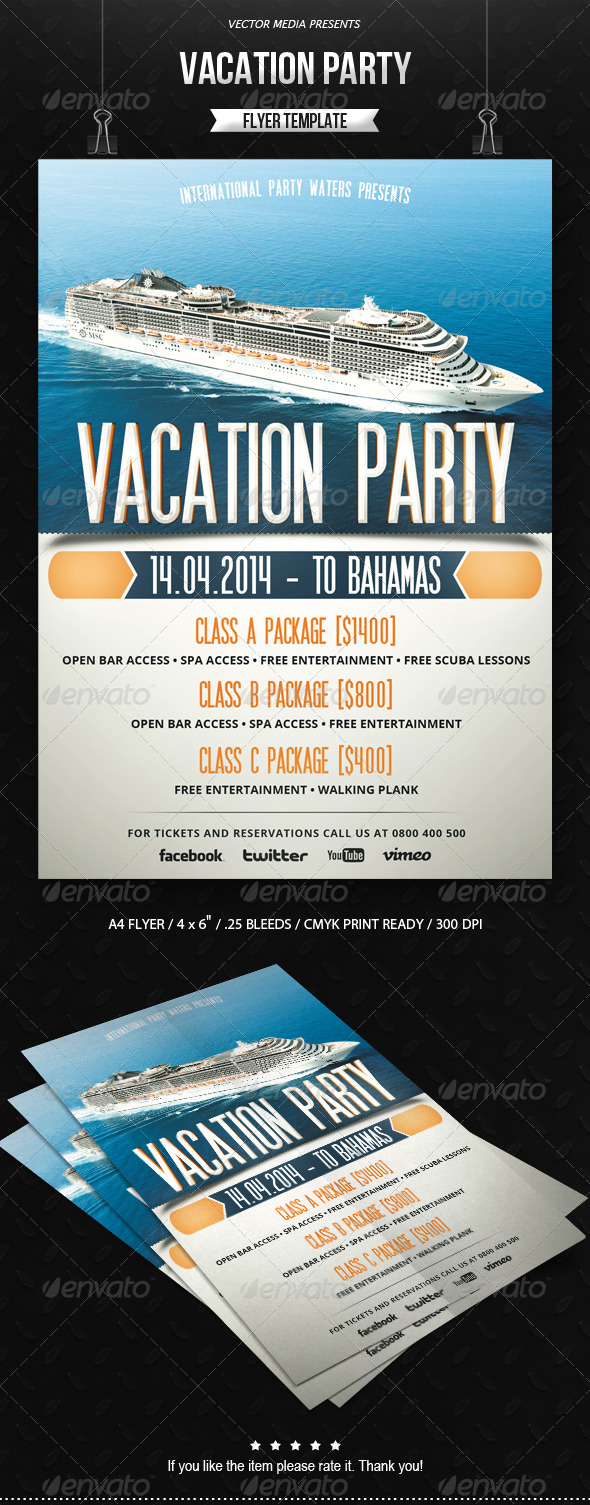 GraphicRiver Vacation Party Flyer 6619168