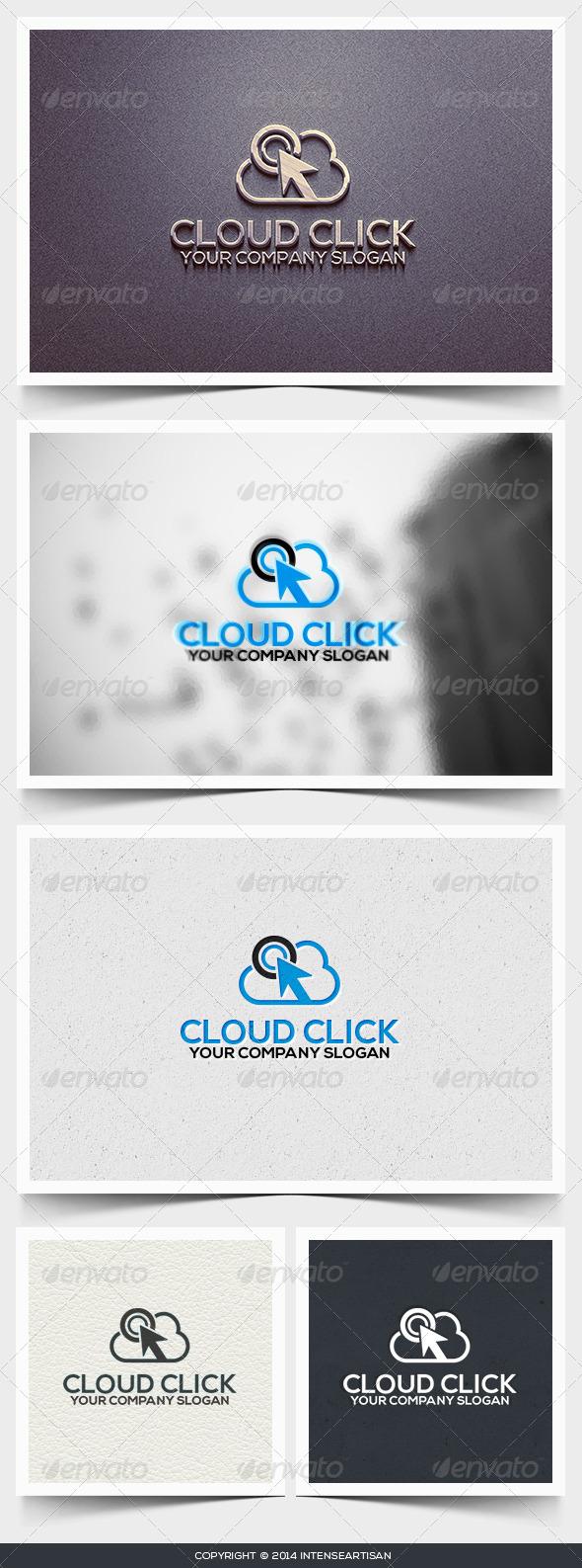 Cloud Click Logo Template