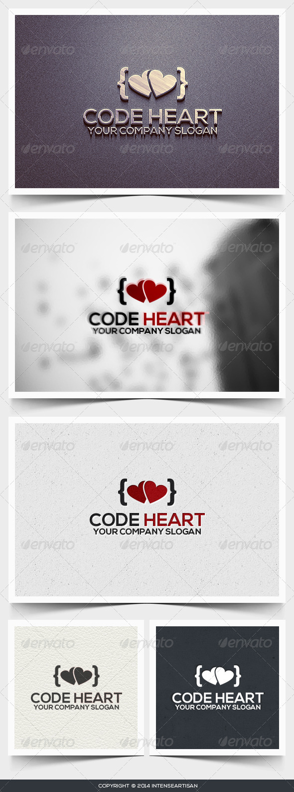 Code Heart Logo Template - Objects Logo Templates