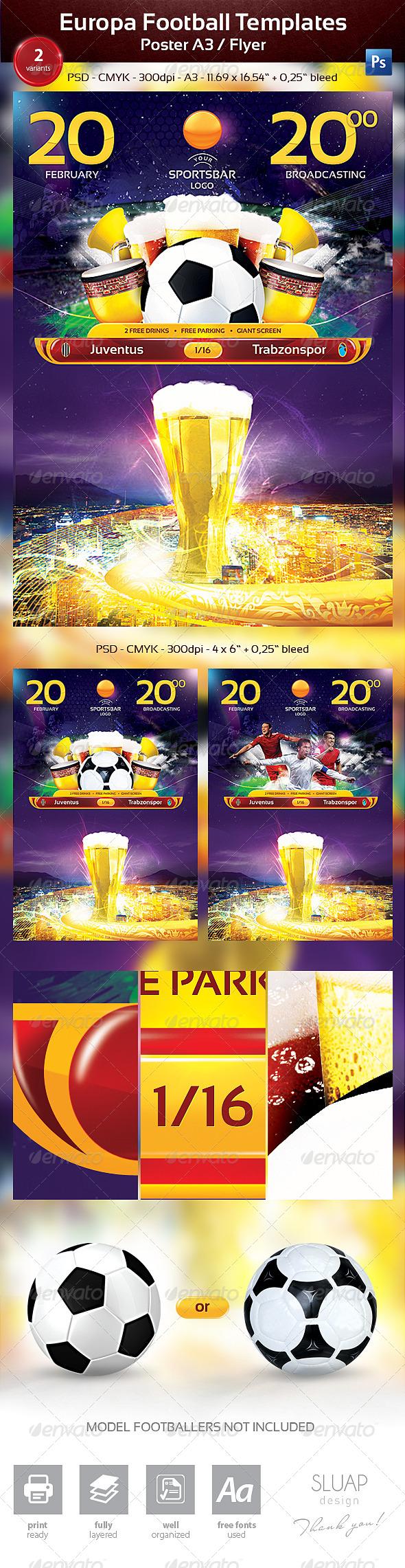 GraphicRiver Europa Football Templates 6607965