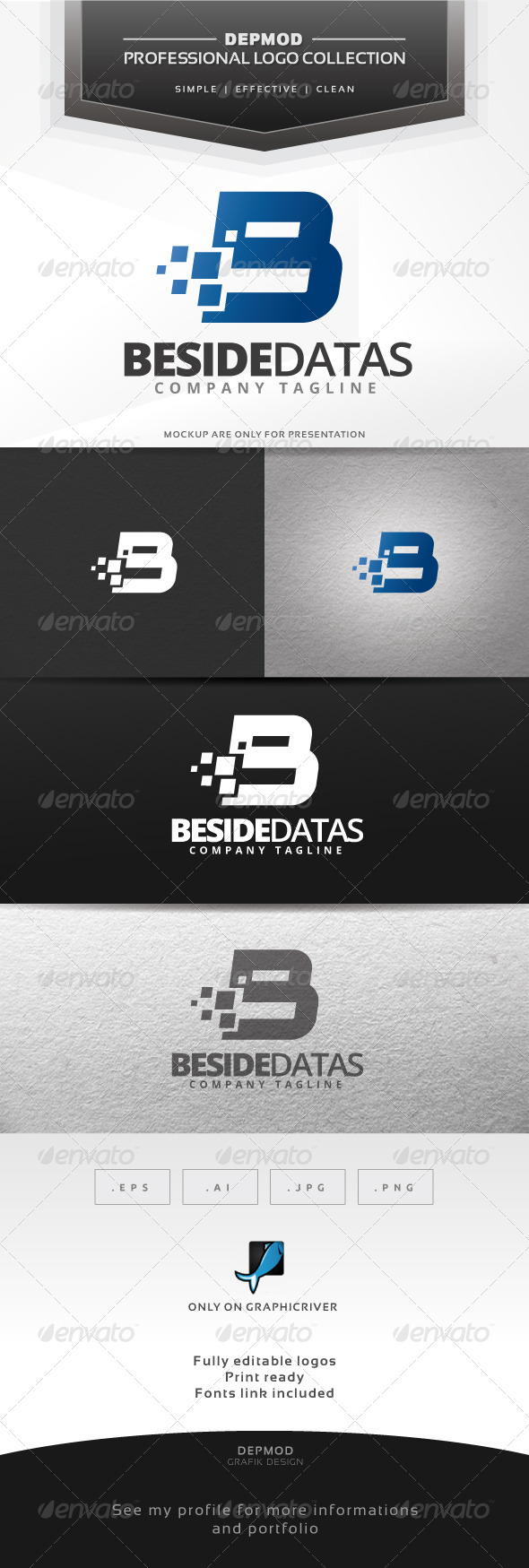 GraphicRiver Beside Datas Logo 6619308